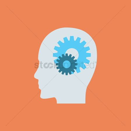 Imaginations : Head with gears