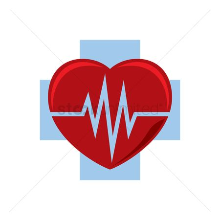 Hospital : Heart beat on a cross