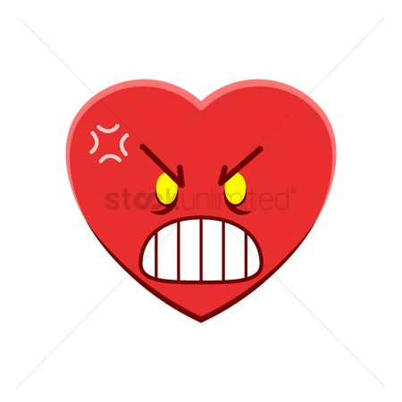 Annoy : Heart character feeling furious