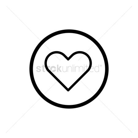Heart shape : Heart icon