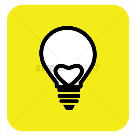 Heart : Heart in light bulb