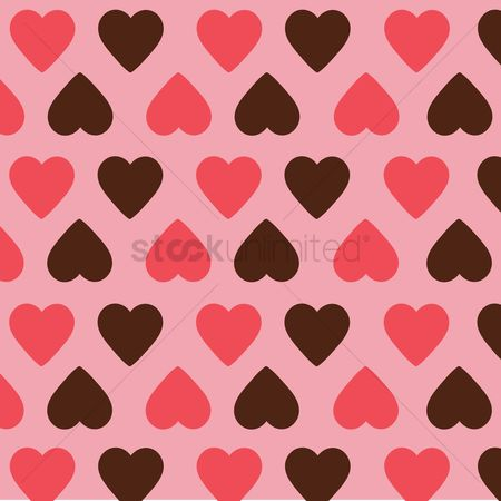 Valentines day : Heart patterned background