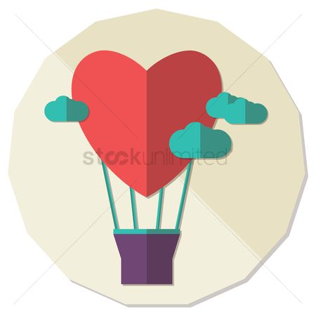 Heart : Heart shape hot air balloon