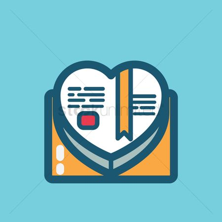 Stories : Heart shaped book