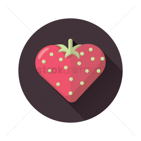 Heart : Heart shaped strawberry