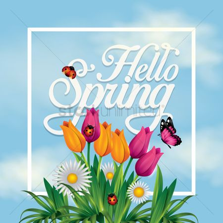 Fresh : Hello spring card design