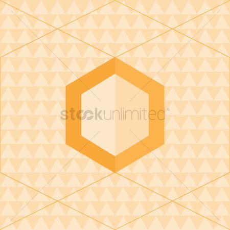 Zig zag : Hexagon background