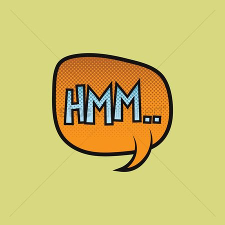 Onomatopoeia : Hmm text with comic effect