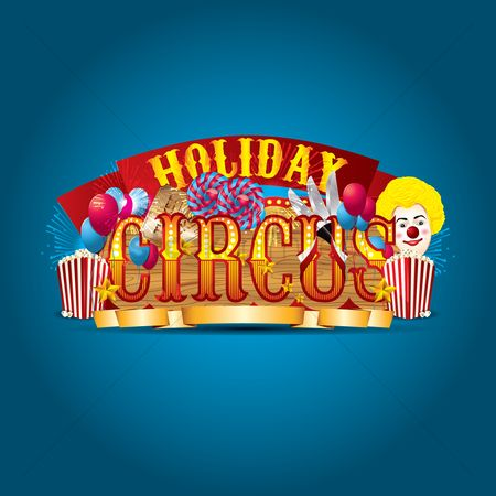 Clowns : Holiday circus lettering design