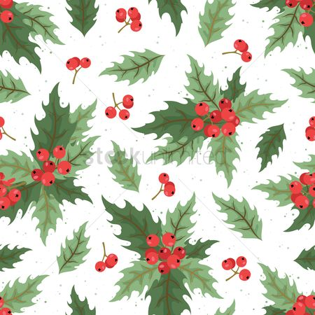 Fruit : Holly berries background