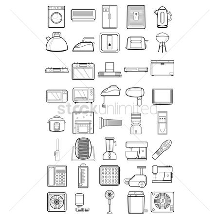 Lighter : Home appliance icons