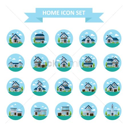 Chimneys : Home icon set