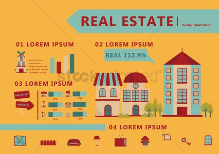 Real estate : Home icons