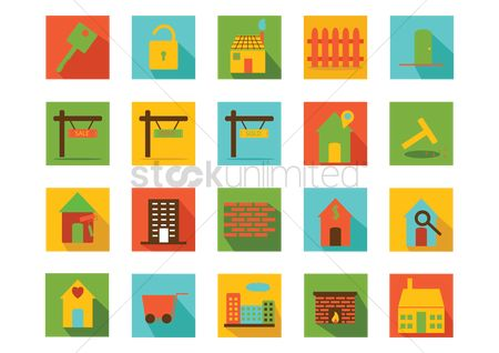 Cottage : Home icons