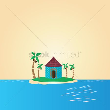 Cottage : Home in middle of sea