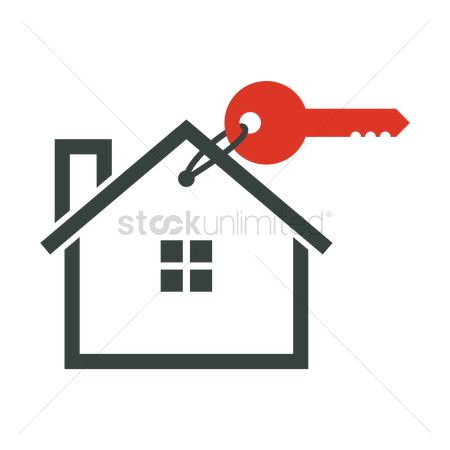 Real estate : Home with key