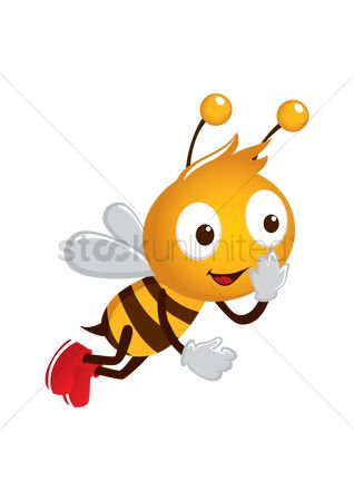 Character : Honey bee smiling