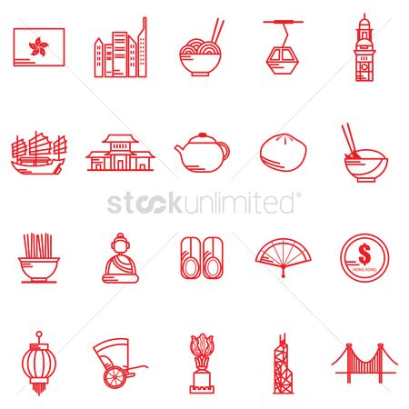 Currencies : Hong kong general icons