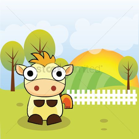 Animal : Horse in a field