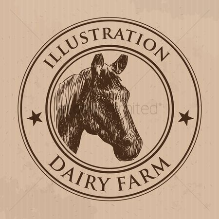 Dairy : Horse label