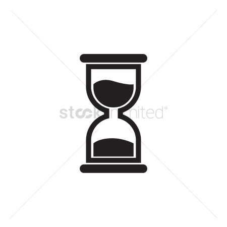 Sand clock : Hour glass icon