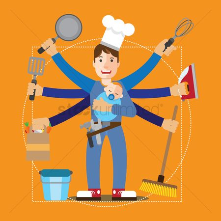Character : House husband and his chores