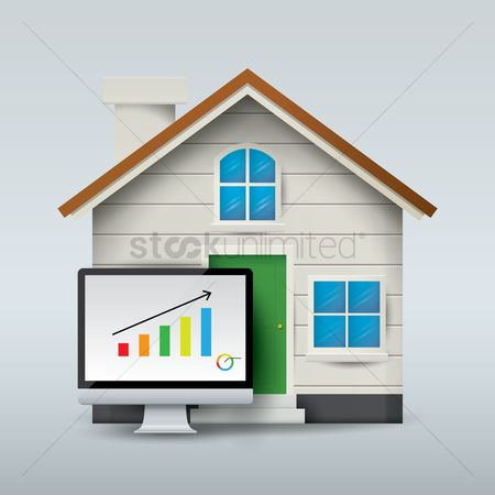 Profits : House with computer screen