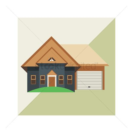 Shutters : House with garage