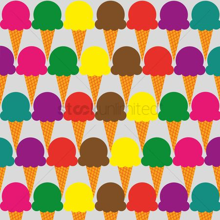 Cones : Ice cream background