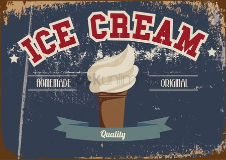 Cones : Ice cream poster