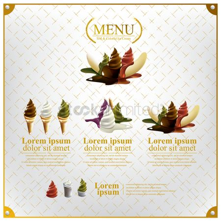 Serve : Ice creams menu
