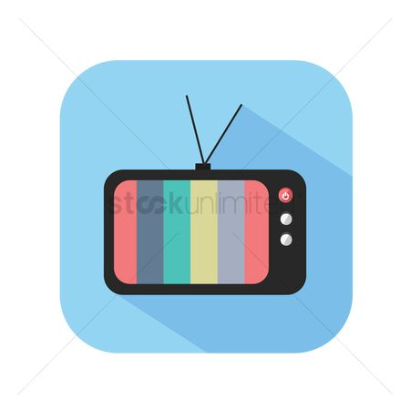 Tv : Icon of a color television