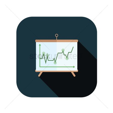 Market : Icon of a line graph
