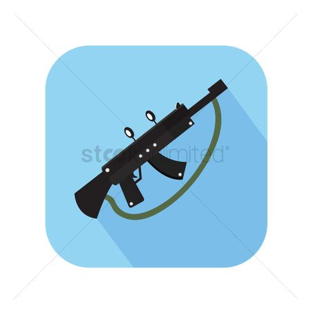 Arm : Icon of a machine gun