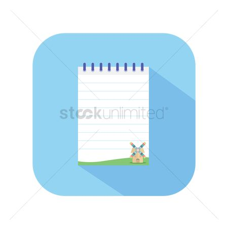 Pad : Icon of a notepad
