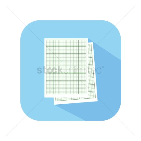 Grids : Icon of graph paper