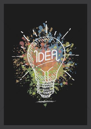 Hand drawn : Idea bulb
