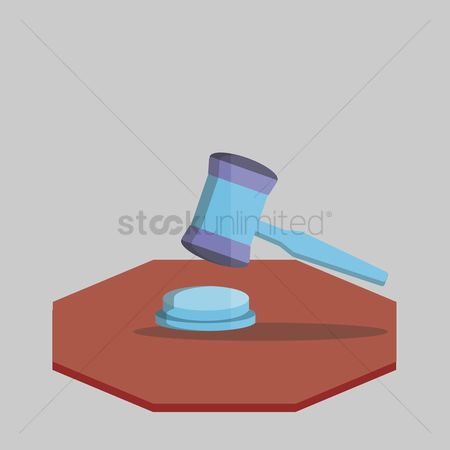 Attention : Illustration of a gavel