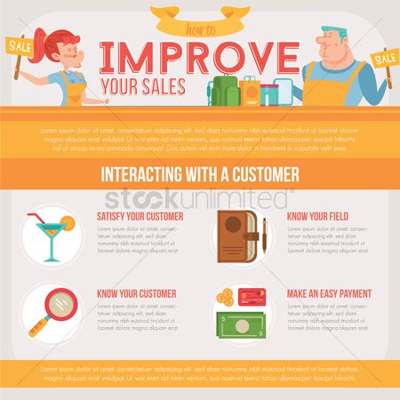 Beverage : Improve sales infographic