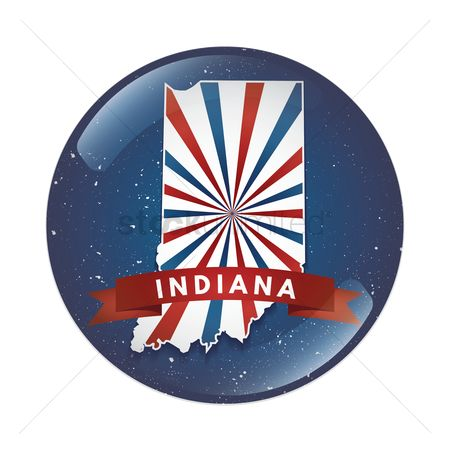 Indiana : Indiana map button