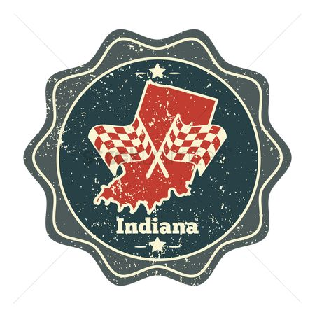 Indiana : Indiana map label