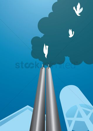 Pollutions : Industrial chimney smoke