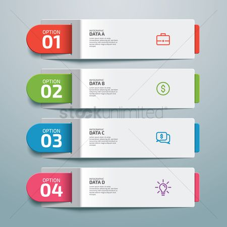 Briefcase : Infographic design elements