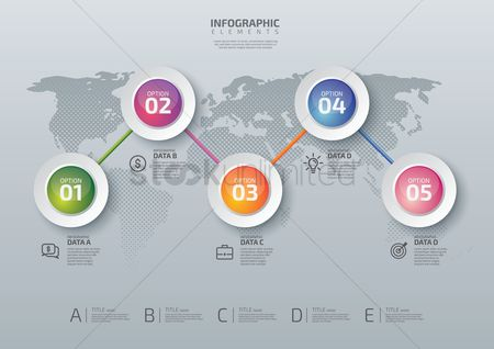 Earth  graphic vector : Infographic design elements