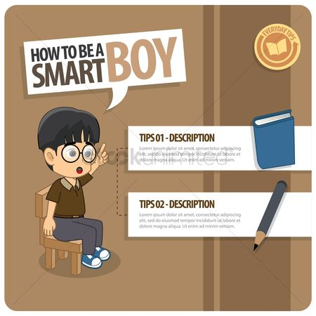 Tips : Infographic of a smart boy