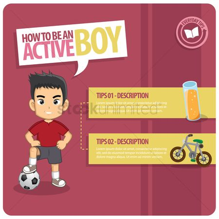 Diets : Infographic of an active boy
