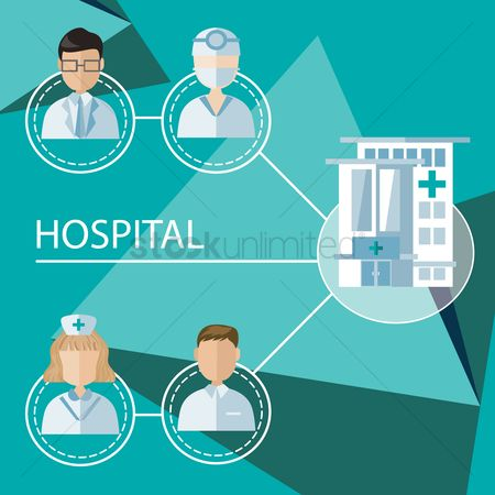 Medical : Infographic of hospital occupations