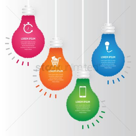 Trolley : Infographic of lightbulbs