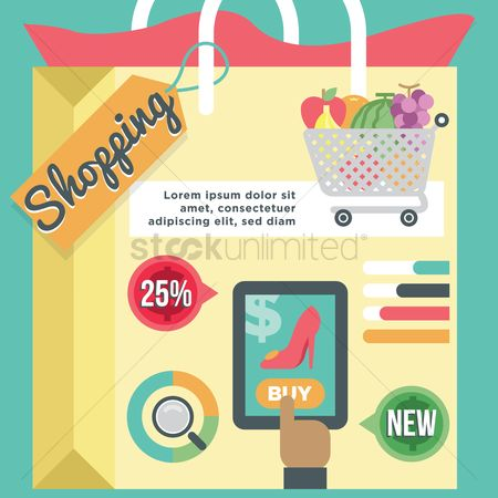 Market : Infographic of online shopping