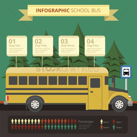 Infographic : Infographic of school bus